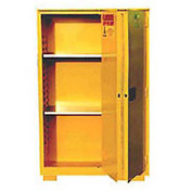"Global&#8482 Flammable Cabinet With Legs - Bi-Fold Single Door 45 Gallon - 43""W x 18""D x 69""H"