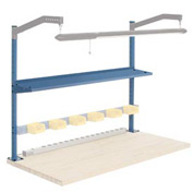 "60""W Upright Kit with 12""D Shelf, 48""H - Blue"