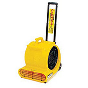 Powr-Flite® 1/2 HP Floor Dryer PD500DX-YS with Handle & Wheels - Yellow