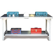 Strong Hold 72 X 36 Stainless Steel Unit Fixed Leg Work Table