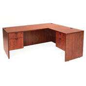 Regency 60 Inch L Desk with 36 Inch Right Return in Cherry - Manager Series