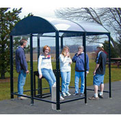 "No Butts 4 Sided Smoking Shelter NBS0412FS - Freestanding - 3'6""W x 10'4""D x 8'2""H Black"