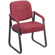 Guest Chair - Fabric - Burgundy