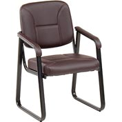 Anti-Microbial Reception Chair - Vinyl - Burgundy