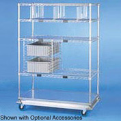 Nexel® Open Sided Wire Exchange Truck 4 Wire 1 Galvanized Shelf 1000 Lb Cap