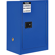 "Global™ Acid Corrosive Cabinet - Manual Close Single Door 12 Gallon- 23""W x 18""D x 35""H"