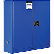 "Global™ Acid Corrosive Cabinet - Manual Close Single Door 24 Gallon - 23""W x 18""D x 65""H"
