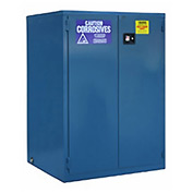 "Global&#8482 Acid Corrosive Cabinet - Manual Close Double Door 60 Gallon - 34""W x 34""D x 65""H"