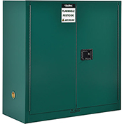 "Global™ Pesticide Storage Cabinet - Manual Close Double Door 30 Gallon - 43""W x 18""D x 44""H"