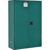 "Global&#8482 Pesticide Storage Cabinet - Manual Close Double Door 45 Gallon - 43""W x 18""D x 65""H"