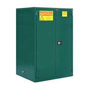"Global&#8482 Pesticide Storage Cabinet - Manual Close Double Door 60 Gallon - 34""W x 34""D x 65""H"