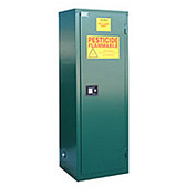 "Global&#8482 Pesticide Storage Cabinet - Self Close Single Door 24 Gallon - 23""W x 18""D x 65""H"