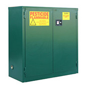 "Global™ Pesticide Storage Cabinet - Self Close Double Door 30 Gallon - 43""W x 18""D x 44""H"