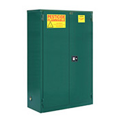 "Global&#8482 Pesticide Storage Cabinet - Self Close Double Door 45 Gallon - 43""W x 18""D x 44""H"