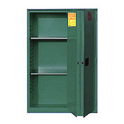 "Global&#8482 Pesticide Storage Cabinet - Manual Close Bi-Fold Single Door 45 Gallon - 43""W x 18""D x"
