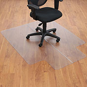 "Aleco® Office Chair Mat for Hard Floor - 46""W x 60""L with 25"" x 12"" Lip - Straight Edge"