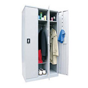Sandusky Snapit  Boltless Steel Locker KDCL7236/3 Single Tier - 35-1/4x18x72 3 Door Unassembled Gray