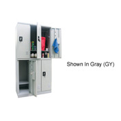 Sandusky Snapit  Boltless Steel Locker KDCL7236/6 Double Tier -35-1/4x18x72 6 Door Unassembled Black
