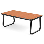 Reception Seating Rectangle Table - Cherry