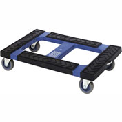 "Quantum Plastic Container Dolly DLY3018 With Padded Rubber Ledge 30""L X 18""W"