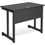 "OFM Training Table 36"" X 24"" Graphite & Black"