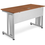 "OFM Training Table 48"" X 24"" Cherry & Silver"
