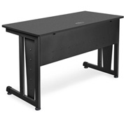 "OFM Training Table 48"" X 24"" Graphite & Black"