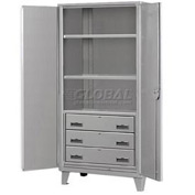 Heavy Duty Storage Cabinet with Drawers  36 x 24 x 78