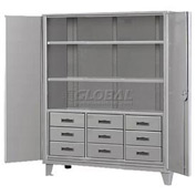 Heavy Duty Storage Cabinet with Drawers  60 x 24 x 78