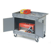 "Mobile Workcenter Cart with 5"" Rubber Casters"