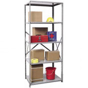"Hallowell Steel Shelving 22 Ga 36""Wx24""Dx87""H Open Clip 5 Shelf Starter"