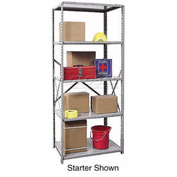 "Hallowell Steel Shelving 22 Ga 48""Wx12""Dx87""H Open Clip 5 Shelf Add-On"