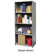 "Hallowell Steel Shelving 22ga 36""Wx24""Dx87""H Closed Clip 5 Shelf Add-On"