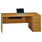 "Bush Quantum™ 72"" Right Credenza with Pedestal - Modern Cherry"