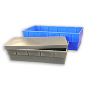Bayhead Storage Container BC-3616 - 38-1/2 x 18 x 9 Gray