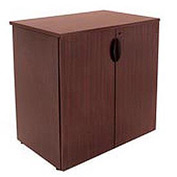 Stackable Storage Cabinet Mahogany