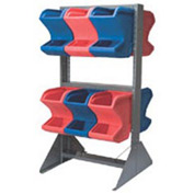 "Akro Double Sided Easy Flow Gravity Hopper Pick Rack 31625RACK - 36""W X 36""D X 69""H"