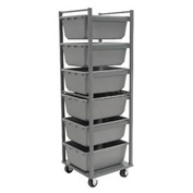 "Akro-Mils Nesting Tub Cart RA6TR4MR - 6 Tub Capacity, 24""L x 24""W x 73""H, No Tubs"