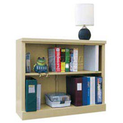 """Steel Bookcase 2 Shelves 34-1/2""""W x 13""""D x 30""""H Easy Assembly Putty"""