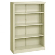 "Steel Bookcase 4 Shelves 34-1/2""W x 13""D x 52""H Easy Assembly Putty"