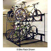 "6-Bike Rack Double Decker, Non-Locking, 54""W X 63""D"