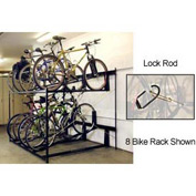 Lockable Two Tier 6 Bike Storage Rack