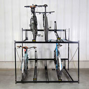 "10-Bike Rack Double Decker, Non-Locking, 72""W X 63""D"