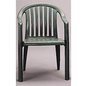 Grosfillex® Resin Lowback Stacking Outdoor Armchair - Green - Pkg Qty 4