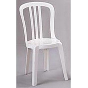 Grosfillex® Miami Bistro Resin Stacking Outdoor Sidechair White - Pkg Qty 32