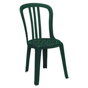 Grosfillex® Miami Bistro Resin Stacking Outdoor Sidechair Green - Pkg Qty 4