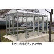 Smoking Shelter Barrel Roof Four Sided With Left And Right Front Opening 15'X5'