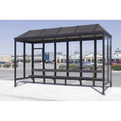 Smoking Shelter Vented Poly-Hip Roof Three Sided With Open Front 15' X 7'6""