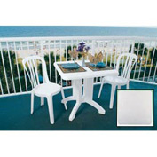 "Grosfillex® Vega 32"" Square Outdoor Folding Tables White - Pkg Qty 12"