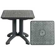 "Grosfillex® Toledo 32"" Square Outdoor Folding Table - Chain Link Design - Pkg Qty 2"